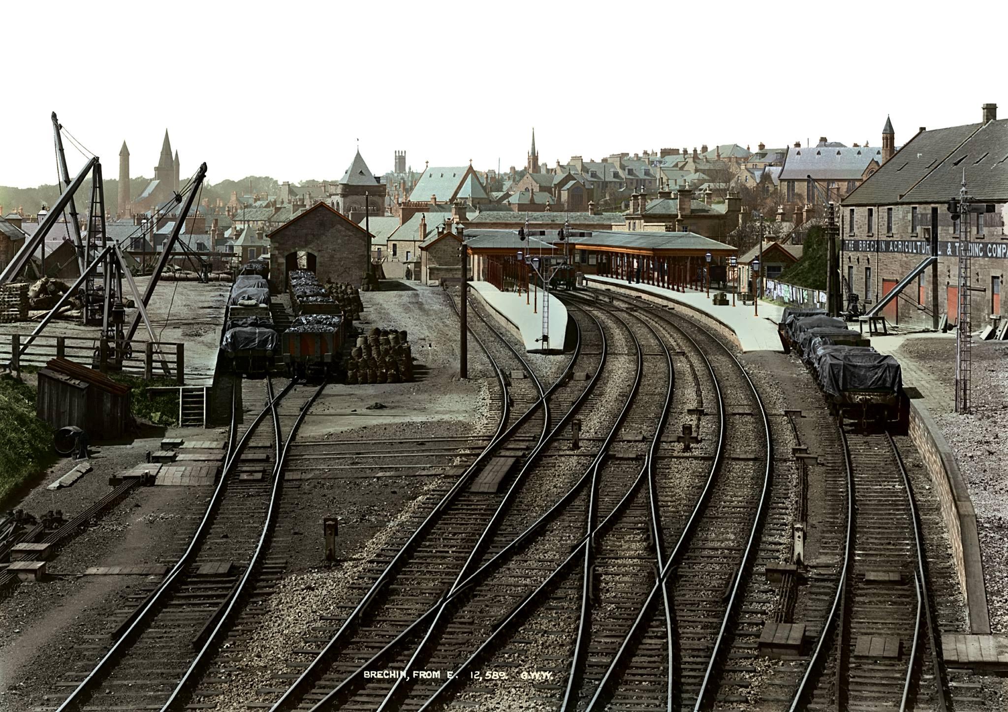 Brechin Station, 1912.